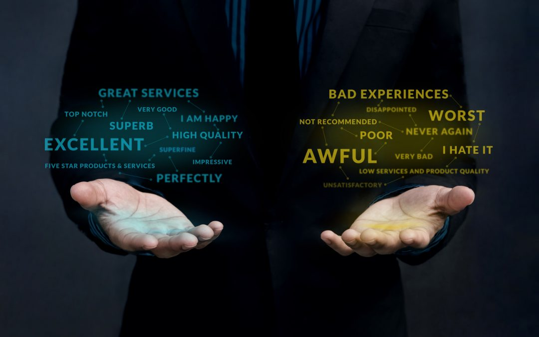 Customer-experience-strategy-positive-and-negative-online-review-concept