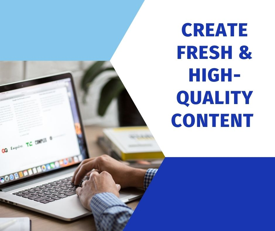 Person Creating Fresh & High-Quality ContentFor Website on Laptop