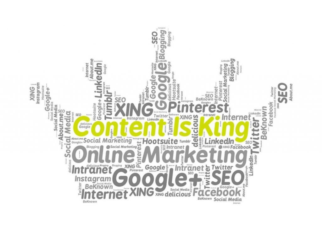 content is king with different types of platforms written
