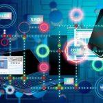 Illustration of internet, social media, blogs, and SEO