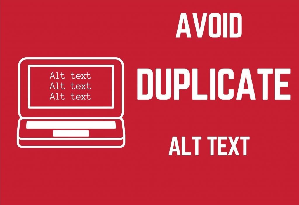 avoid duplicate alt text words in red background with computer beside