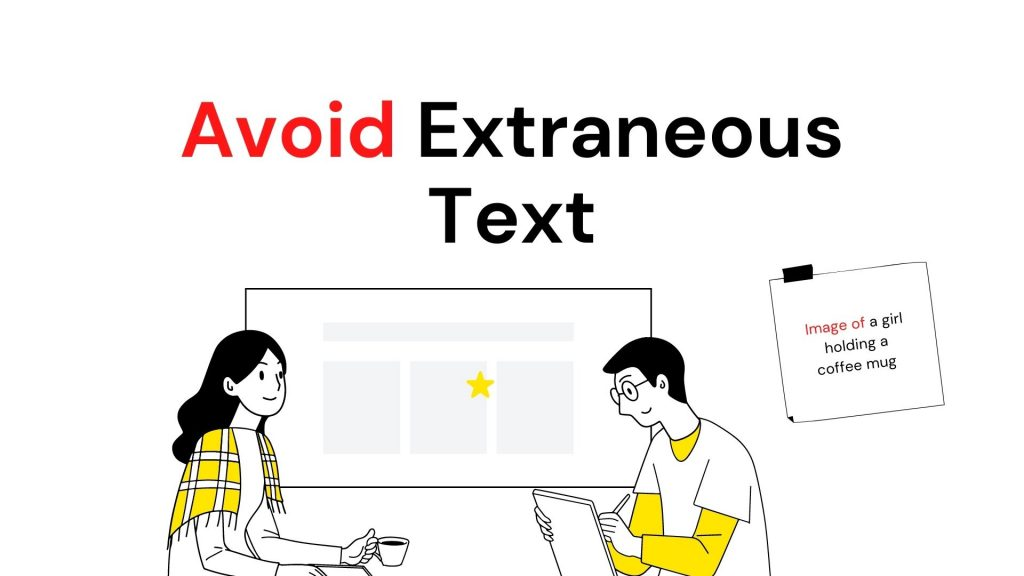 two people talking about avoiding extraneous text words